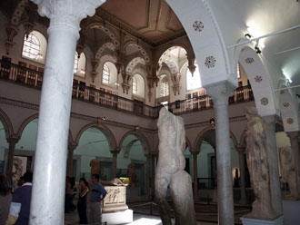The Carthage Room displays a fine collection of sculptures from Carthage, in addition to a large well-preserved floor mosaic.
