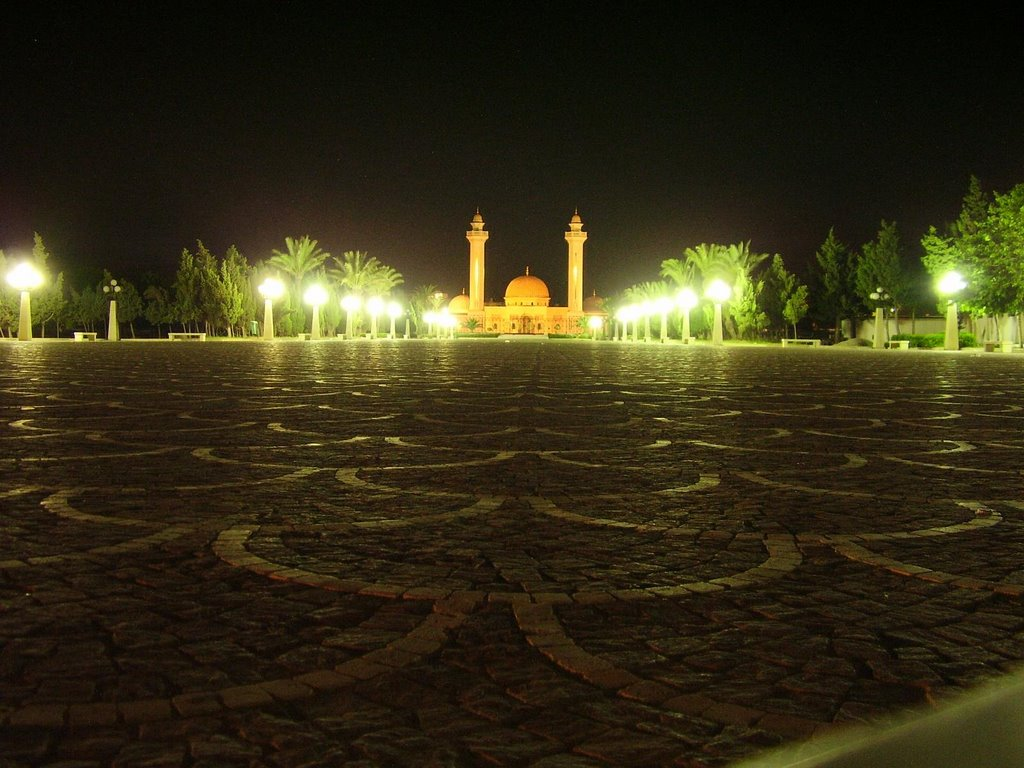 Bourguiba mosque at night - Monastir