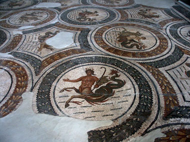 Large floor mosaic. Sousse