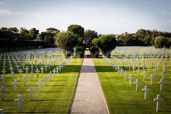 The North Africa American Cemetery tunisia